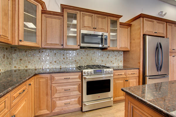 Cinnamon Maple Cabinets