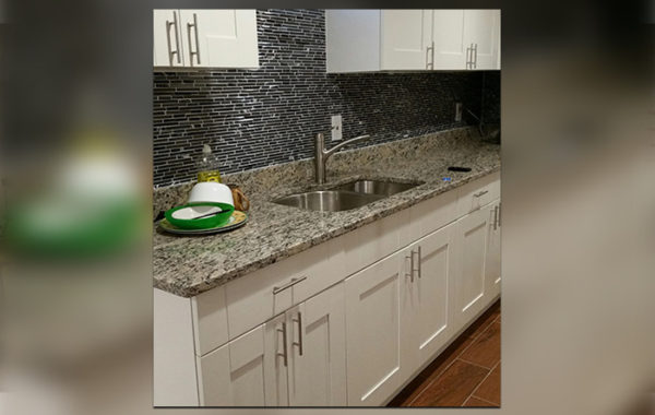 Granite Counters & White Cabinets