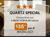 Quartz Special $35 per square foot